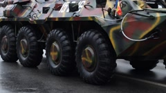 Armored Transportation Vehicle Stock Footage