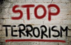 Stock Photo of no terror concept