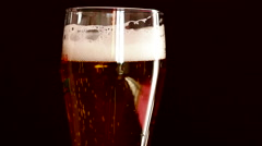 Beer Fizz and Foam Stock Footage