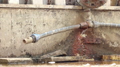 Broken Pipe Dripping Stock Footage