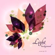 Magical glowing floral background Stock Illustration