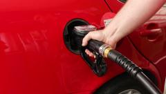 Car Fuels in Gas Station - stock footage