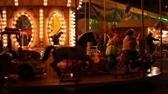 Carousel by Night - stock footage