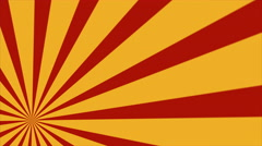 Stock Video Footage of Retro Abstract Sunburst Background Loop Red Yellow Lower Left