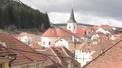 Church in a Mountain Village Stock Footage