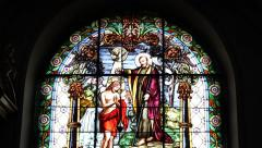 Christ Church Stained Glass - stock footage