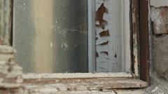 Dilapidated Window Stock Footage