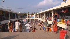 People at the marketplace in Tirupati in Andhra Pradesh, India Stock Footage