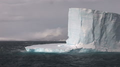 Large Tabular Iceberg in Antarctic Sound Stock Footage