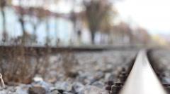 Focus Along Rails Stock Footage