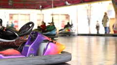 Fun with Electric Bumper Cars Stock Footage