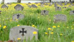 German Soldiers Cemetery Stock Footage