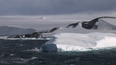 Large Tabular Iceberg in Antarctic Sound - stock footage