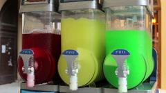 Granita Juice Machine Stock Footage