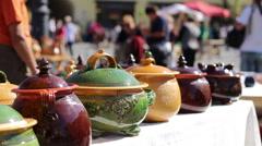 Handmade Food Pottery Stock Footage