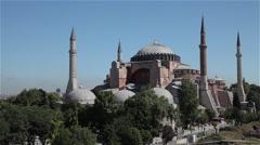 HAGHIA SOPHIA MOSQUE AYA SOFYA  ISTANBUL TURKEY Stock Footage