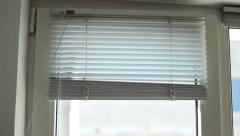 Horizontal Blinds Rise Stock Footage