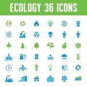 Stock Illustration of Ecology vector icons set - creative illustration on energy theme.