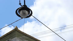 Lantern Hanging over the Street Stock Footage