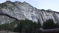 Yosemite National Park, Royal arch, cliff Stock Footage