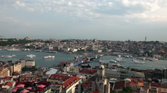 SULTAHAMET & GALATA BRIDGE ISTANBUL TURKEY Stock Footage