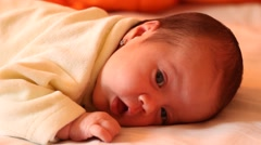 Little New Born Face Stock Footage