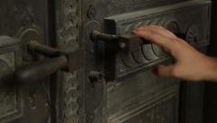 Locked Rusty Door Stock Footage