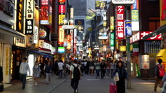 Time Lapse of Busy Shibuya Shopping District Evening - Tokyo Japan Stock Footage