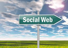 Signpost social web Stock Illustration