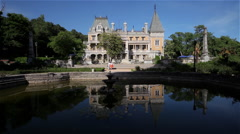 LILY POND AT MASSANDRA PALACE YALTA CRIMEA UKRAINE Stock Footage