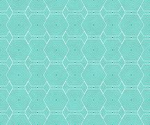 Teal and white hexagon tiles pattern repeat background Stock Illustration