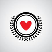heart shape symbol design - stock illustration