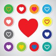 vector heart shape symbol - stock illustration