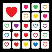 Vector heart shape symbol Stock Illustration