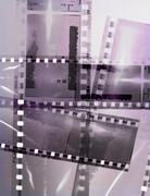Vintage film strip frame background - stock illustration