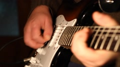 Melody Playing on Electric Guitar Stock Footage