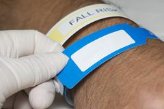 identification bracelet - stock photo
