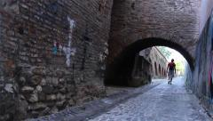 Medieval Fortress Tunnel Stock Footage