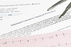 informed consent - stock photo