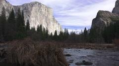 Yosemite National Park, winter drought Stock Footage