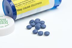 Morphine sulfate warning Stock Photos