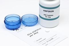 daily aspirin - stock photo
