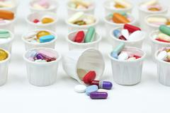 paper pill cups - stock photo