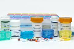 Medication organizers Stock Photos
