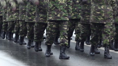 Military Marchpast Stock Footage