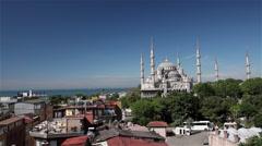 BLUE MOSQUE SULTAN AHMET SULTANAHMET ISTANBUL TURKEY Stock Footage