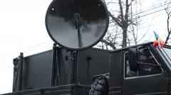 Military Truck Radio Device Stock Footage