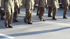 Military Marchpast Close Up Stock Footage