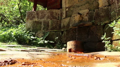 Mineral Water Spring Stock Footage