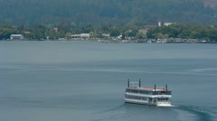 Lakeland Queen cruise - Rotorua New Zealand Stock Footage